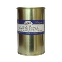 Cou de canard farci au foie gras - 20 % de foie gras de canard - 400 g