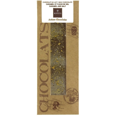 Tablette Chocolat Lait/Caramel et Fleur de Sel.