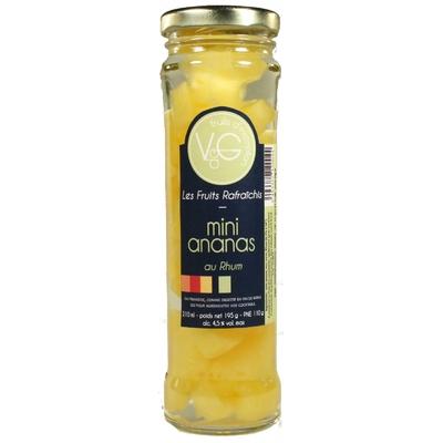 Mini Ananas rafraichis au Rhum 210 g
