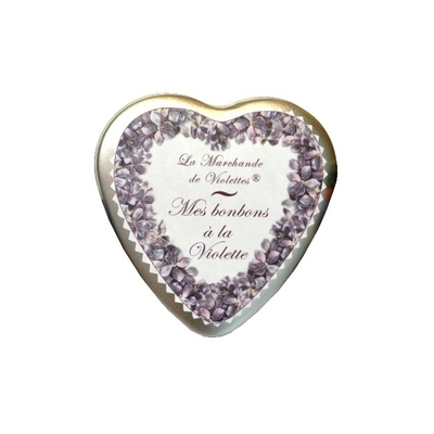 """Mes bonbons à la Violette Boite métal  """"Coeur"""""""