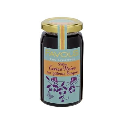 Délice Cerise Noire au gâteau basque
