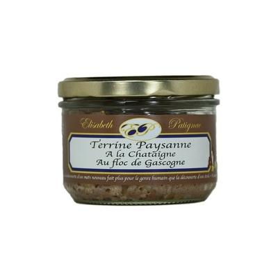 Terrine Paysanne à la Châtaigne et au Floc de Gascogne, 180 g