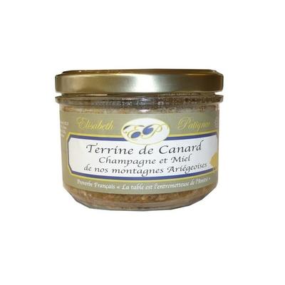 Terrine de Canard Champagne et Miel de nos montagnes d'Ariège, 180 g