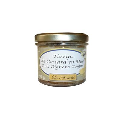 Terrine de Canard en duo aux Oignons Confits - 90 g