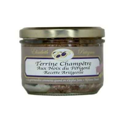 Terrine Champêtre aux noix du Périgord - Recette Ariégeoise - 180 g