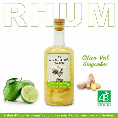 Rhum Citron vert gingembre BIO