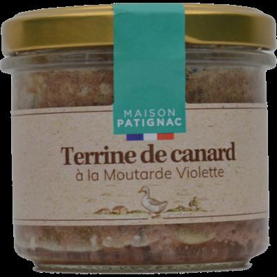 Terrine de canard à la moutarde Violette, 90 g