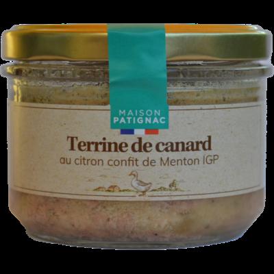 Terrine de canard au citron confit de Menton IGP, 180 g
