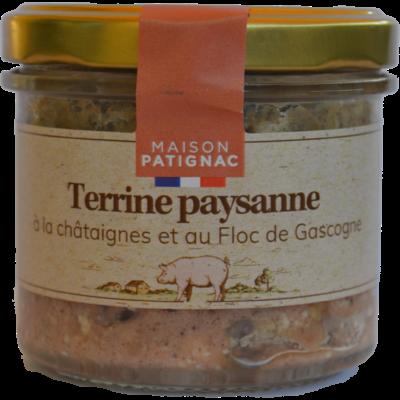 Terrine Paysanne à la Châtaigne et au Floc de Gascogne, 90 g
