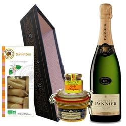 NANCY.Corbeille champagne foie gras
