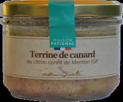 Terrine de canard au citron confit de Menton IGP Patignac