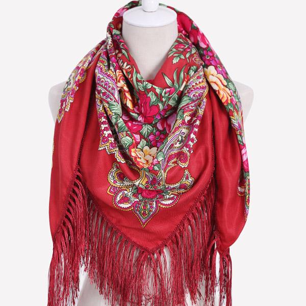 Marque-de-luxe-Impression-Oversize-Carr-Couvertures-Russe-Femmes-De-Mariage-charpe-R-tro-Style-Coton