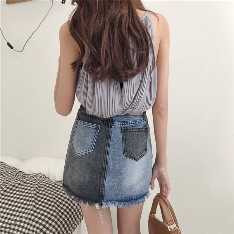 bgteever-hit-color-zipper-denim-skirts-summer-fringe-irregular-mini-skirt-women-high-waisted-vintage-pecil