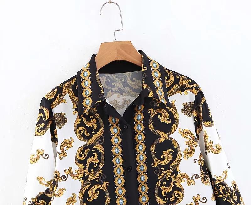 2019-ruches-imprim-floral-Vintage-robe-femmes-manches-longues-robe-Automne-chic-pliss-e-chemise-robe