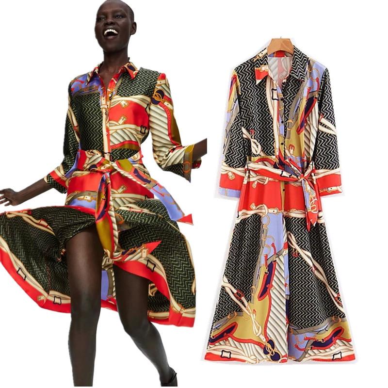 COZARII-2018-Mode-robes-f-minin-robe-angleterre-style-imprimer-pissage-ceintures-arc-r-gulier-droite