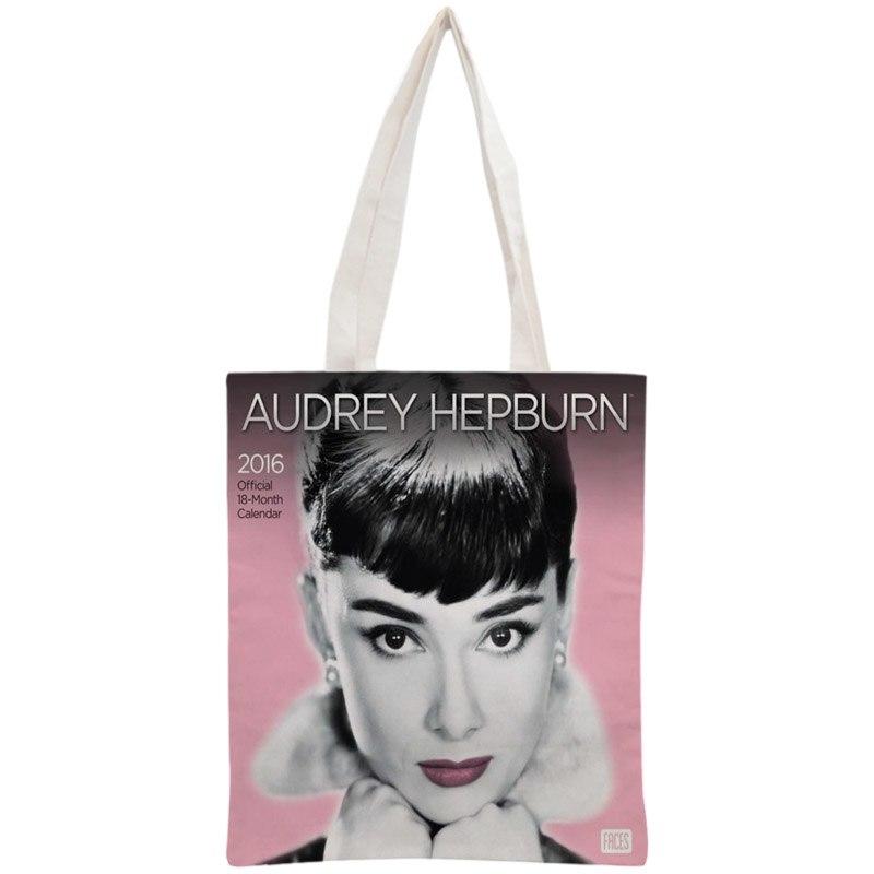 Personnalis-Audrey-Hepburn-sac-fourre-tout-R-utilisable-Sac-Main-Des-Femmes-petit-sac-d-paule