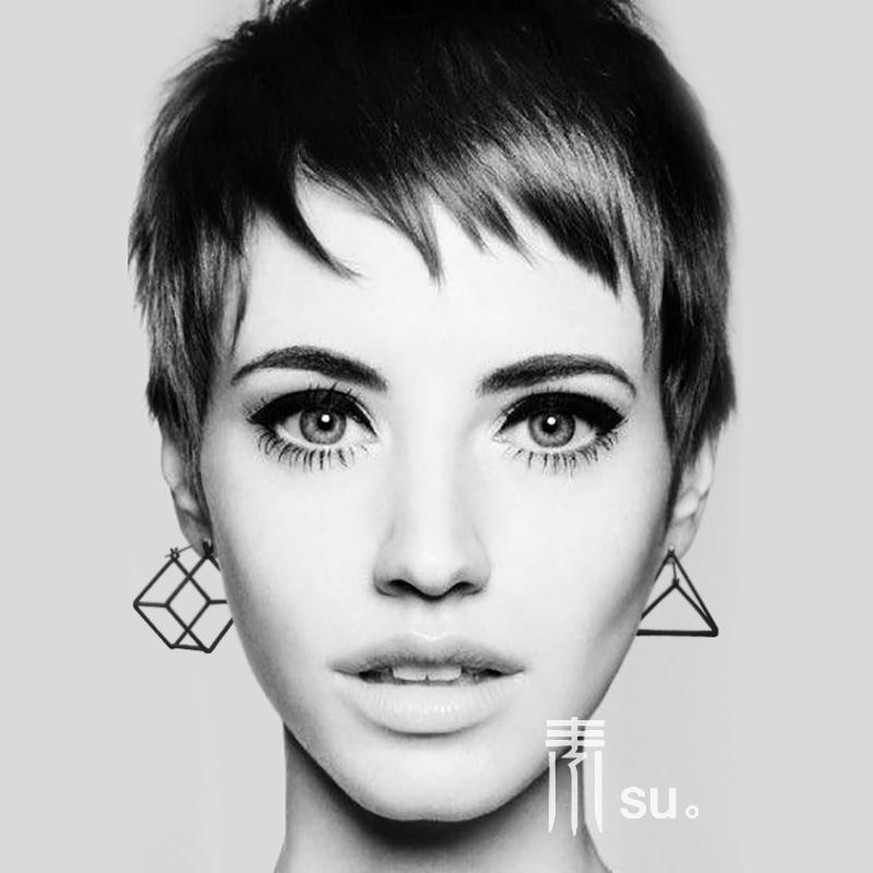 2018-nouvelle-mode-style-bref-or-argent-noir-creux-g-om-trique-stud-boucles-d-oreilles