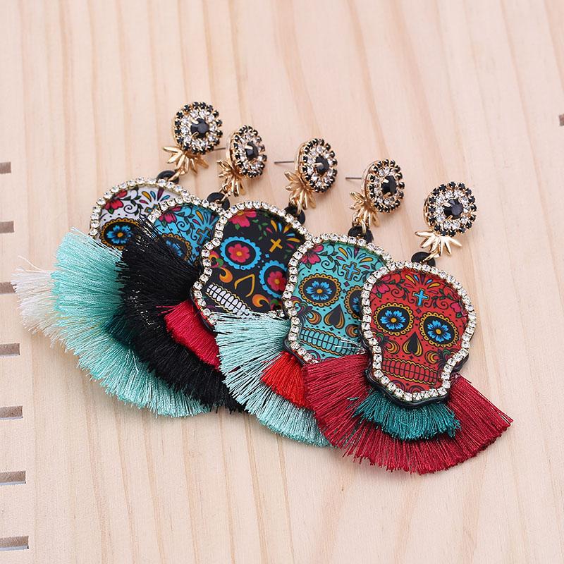 Sehouran-Mode-Oorbellen-Balancent-Gland-boucles-d-oreilles-pour-femmes-Multicolore-Cr-ne-Pendentif-Franges-boucles