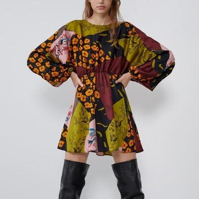 Robe Fleurie Patchwork Esprit Seventies ANOI