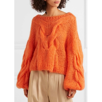 Pull Tricot Maille Loose Oversized DOMI Différents Coloris