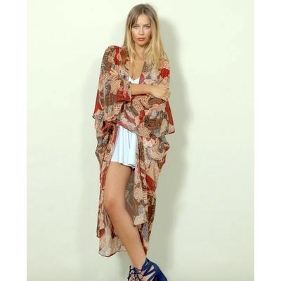 Veste Kimono d'été Imprimé Cachemire SAIL