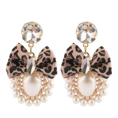 Boucles d'Oreilles Perles et Noeud 2 Modèles