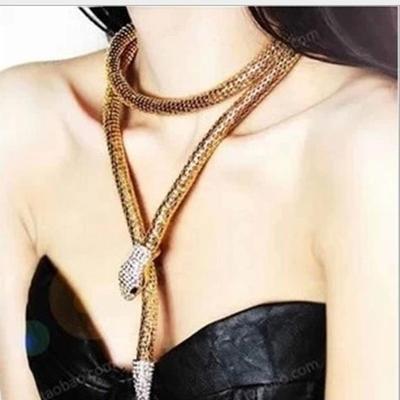 Collier, Bracelet ou Parure Bijoux Serpent Métal Argenté ou Doré