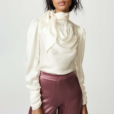 Chemisier Blouse Cravate Satiné 2 Coloris