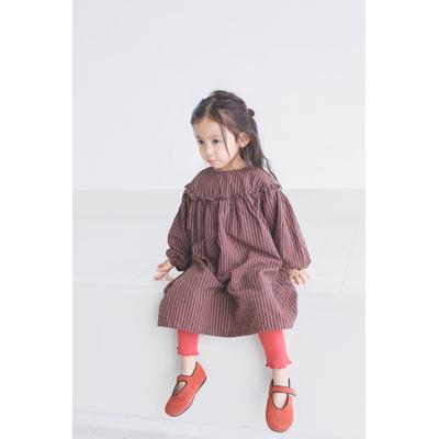 Robe Enfant Rayée Volantée AVA 2 Coloris