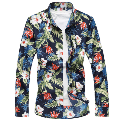 Chemise Homme Fleurie Tropicale Hawaienne LO