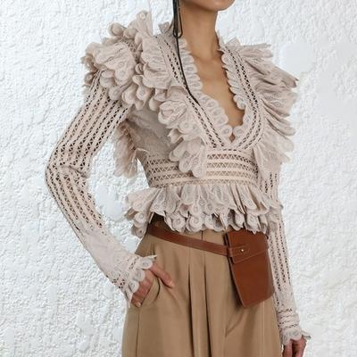 Blouse Crochet Froufrou Différents Modèles et Coloris