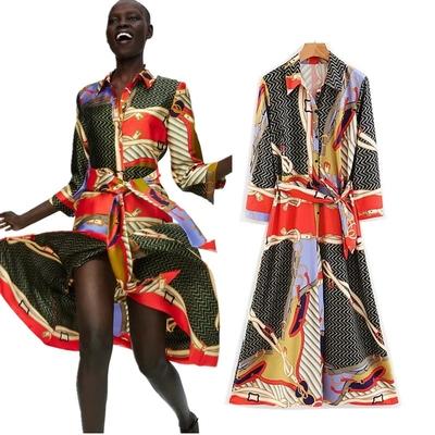 Robe Longue Colorée à Imprimé Foulard Esprit Vintage MANIA