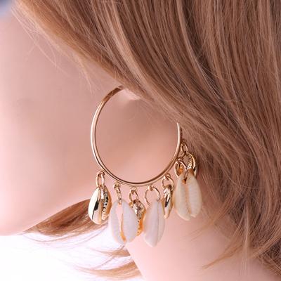 Boucles d'oreilles Créoles à breloques Coquillages