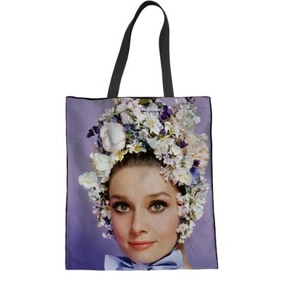 Sac Shopper Coton Audrey hepburn Différents modèles