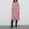 Autumn-women-dress-holiday-loose-and-long-sleeve-dress-casual-dot-print-bow-decoration-dress-Vestidos