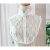 Vintage-Detachable-Fashion-Blouse-detachable-false-Retro-Peter-Pan-Lace-Collar-White-Petite-round-neck-pearl