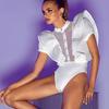 GETSRING-Papillon-Manches-Lotus-pissage-Transparent-Gaze-V-tements-Formelle-Salopette-Barboteuses-Femmes-Body-Plus-La