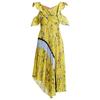 TWOTWINSTYLE-Imprim-Floral-Robes-D-t-Femmes-Volants-Manches-Courtes-Off-paule-Sexy-Asym-trique-Pliss