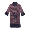 Toyouth-Vintage-Geometric-Summer-Dresses-Fashion-Hit-Color-Women-Chiffon-Pleated-Dress-Casual-Three-Quarter-Sleeve