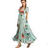 2018-Nouvelles-Femmes-De-Mode-Maxi-Robe-Manches-Courtes-Long-Summer-Imprim-floral-Robes-Casual-Dames