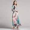 Vintage-Longue-Robe-de-Haute-Qualit-2018-D-t-l-gant-Col-En-V-XXL-Floral