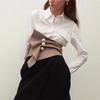 Mode-Irr-guli-re-Plaid-En-Trois-Dimensions-Perle-Boucle-Ceinture-Vintage-Taille-Haute-Slim-Femmes
