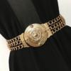 2019-Femmes-Fleur-ceinturons-Dames-De-Mode-Floral-lastique-Large-Or-ceinture-m-tallique-Pour-Robe