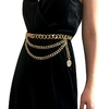 De-luxe-Designer-ceinture-m-tallique-Pour-Femmes-R-tro-Punk-Fringe-Taille-Argent-Or-robe