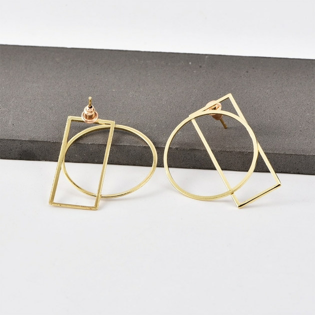 New-Ear-Studs-Fashion-Personality-Simple-Round-Square-Geometry-Joker-Women-s-Ear-Accessories-Hot-Sale