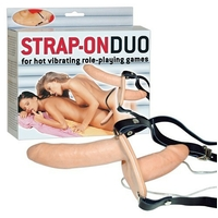 Gode ceinture double STRAP-ON DUO vibrant