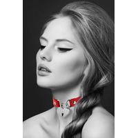 Collier rouge pendentif cadenas