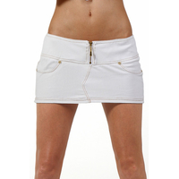 Mini jupe jeans blanche