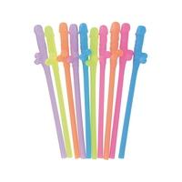 Lot de 10 pailles zizi 4 couleurs DICKY