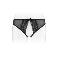Culotte ouverte et sexy noire.